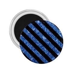 STR3 BK-BL MARBLE (R) 2.25  Magnets