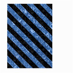 Stripes3 Black Marble & Blue Marble (r) Large Garden Flag (two Sides)