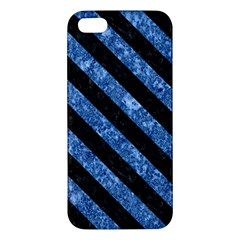 STR3 BK-BL MARBLE (R) Apple iPhone 5 Premium Hardshell Case