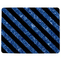 Stripes3 Black Marble & Blue Marble (r) Jigsaw Puzzle Photo Stand (rectangular)