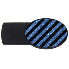 STR3 BK-BL MARBLE USB Flash Drive Oval (2 GB)