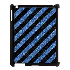 STR3 BK-BL MARBLE Apple iPad 3/4 Case (Black)