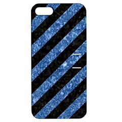 STR3 BK-BL MARBLE Apple iPhone 5 Hardshell Case with Stand