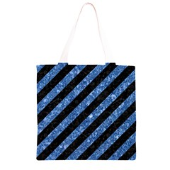 STR3 BK-BL MARBLE Grocery Light Tote Bag