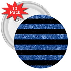 STR2 BK-BL MARBLE 3  Buttons (10 pack)
