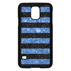 STR2 BK-BL MARBLE Samsung Galaxy S5 Case (Black)