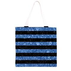 STR2 BK-BL MARBLE Grocery Light Tote Bag
