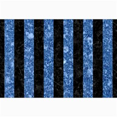 Stripes1 Black Marble & Blue Marble Collage 12  X 18
