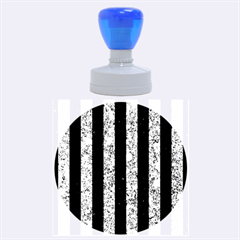 STR1 BK-BL MARBLE Rubber Round Stamps (Large)