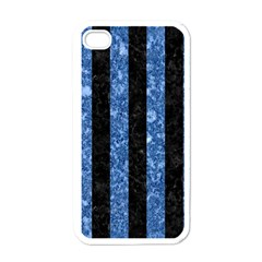 STR1 BK-BL MARBLE Apple iPhone 4 Case (White)
