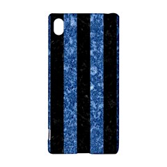 Stripes1 Black Marble & Blue Marble Sony Xperia Z3+ Hardshell Case