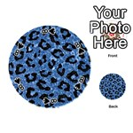 SKIN5 BLACK MARBLE & BLUE MARBLE Playing Cards 54 (Round) Front - Spade8