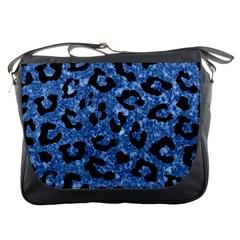 SKN5 BK-BL MARBLE Messenger Bags