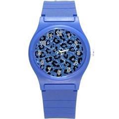 SKN5 BK-BL MARBLE Round Plastic Sport Watch (S)