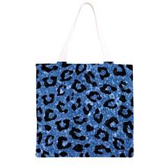 SKN5 BK-BL MARBLE Grocery Light Tote Bag