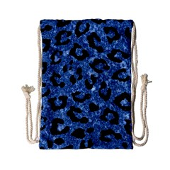 Skin5 Black Marble & Blue Marble Drawstring Bag (small)