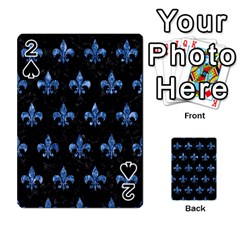 Royal1 Black Marble & Blue Marble (r) Playing Cards 54 Designs