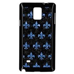 RYL1 BK-BL MARBLE (R) Samsung Galaxy Note 4 Case (Black)