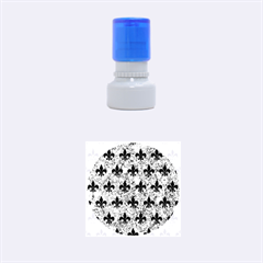 RYL1 BK-BL MARBLE Rubber Round Stamps (Small)