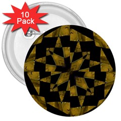 Bold Geometric 3  Buttons (10 pack)