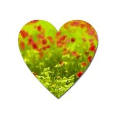 Poppy I Heart Magnet