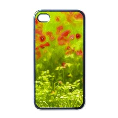 Poppy I Apple iPhone 4 Case (Black)