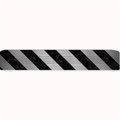 Stripes3 Black Marble & Silver Brushed Metal (r) Small Bar Mat