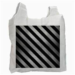 STR3 BK MARBLE SILVER (R) Recycle Bag (One Side)