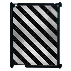 STR3 BK MARBLE SILVER (R) Apple iPad 2 Case (Black)