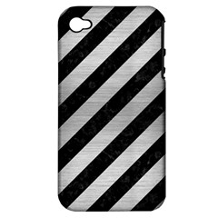 STR3 BK MARBLE SILVER Apple iPhone 4/4S Hardshell Case (PC+Silicone)