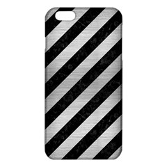 Stripes3 Black Marble & Silver Brushed Metal Iphone 6 Plus/6s Plus Tpu Case