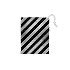STR3 BK MARBLE SILVER Drawstring Pouches (XS)