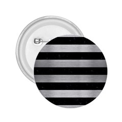 STR2 BK MARBLE SILVER 2.25  Buttons