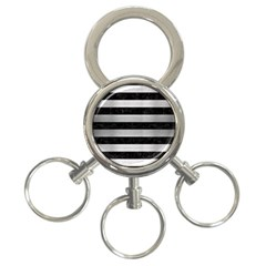 STR2 BK MARBLE SILVER 3-Ring Key Chains