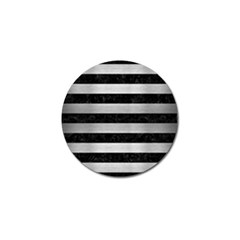 STR2 BK MARBLE SILVER Golf Ball Marker (4 pack)