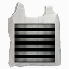 STR2 BK MARBLE SILVER Recycle Bag (One Side)