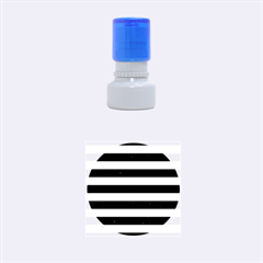 STR2 BK MARBLE SILVER Rubber Round Stamps (Small)
