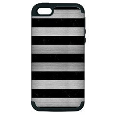 STR2 BK MARBLE SILVER Apple iPhone 5 Hardshell Case (PC+Silicone)