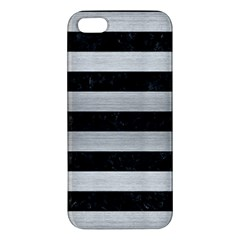 STR2 BK MARBLE SILVER Apple iPhone 5 Premium Hardshell Case