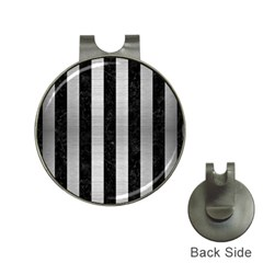 STR1 BK MARBLE SILVER Hat Clips with Golf Markers