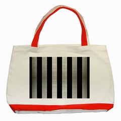 STR1 BK MARBLE SILVER Classic Tote Bag (Red)