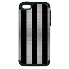 STR1 BK MARBLE SILVER Apple iPhone 5 Hardshell Case (PC+Silicone)