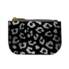 Skin5 Black Marble & Silver Brushed Metal (r) Mini Coin Purse