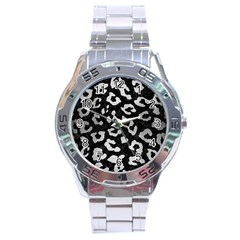 Skin5 Black Marble & Silver Brushed Metal (r) Stainless Steel Analogue Watch