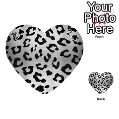 Skin5 Black Marble & Silver Brushed Metal Playing Cards 54 (heart)
