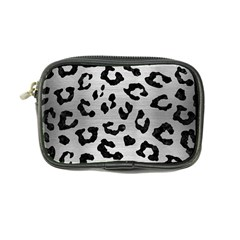 Skin5 Black Marble & Silver Brushed Metal Coin Purse