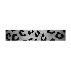 Skin5 Black Marble & Silver Brushed Metal Flano Scarf (mini)