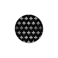 Royal1 Black Marble & Silver Brushed Metal (r) Golf Ball Marker (4 Pack)