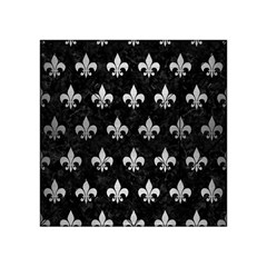 Royal1 Black Marble & Silver Brushed Metal (r) Acrylic Tangram Puzzle (4  X 4 )