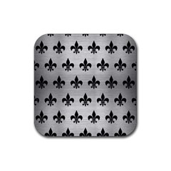 RYL1 BK MARBLE SILVER Rubber Coaster (Square)